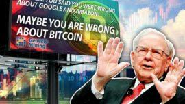 Warren Buffett bị troll bằng những bảng quảng cáo trước văn phòng của ông